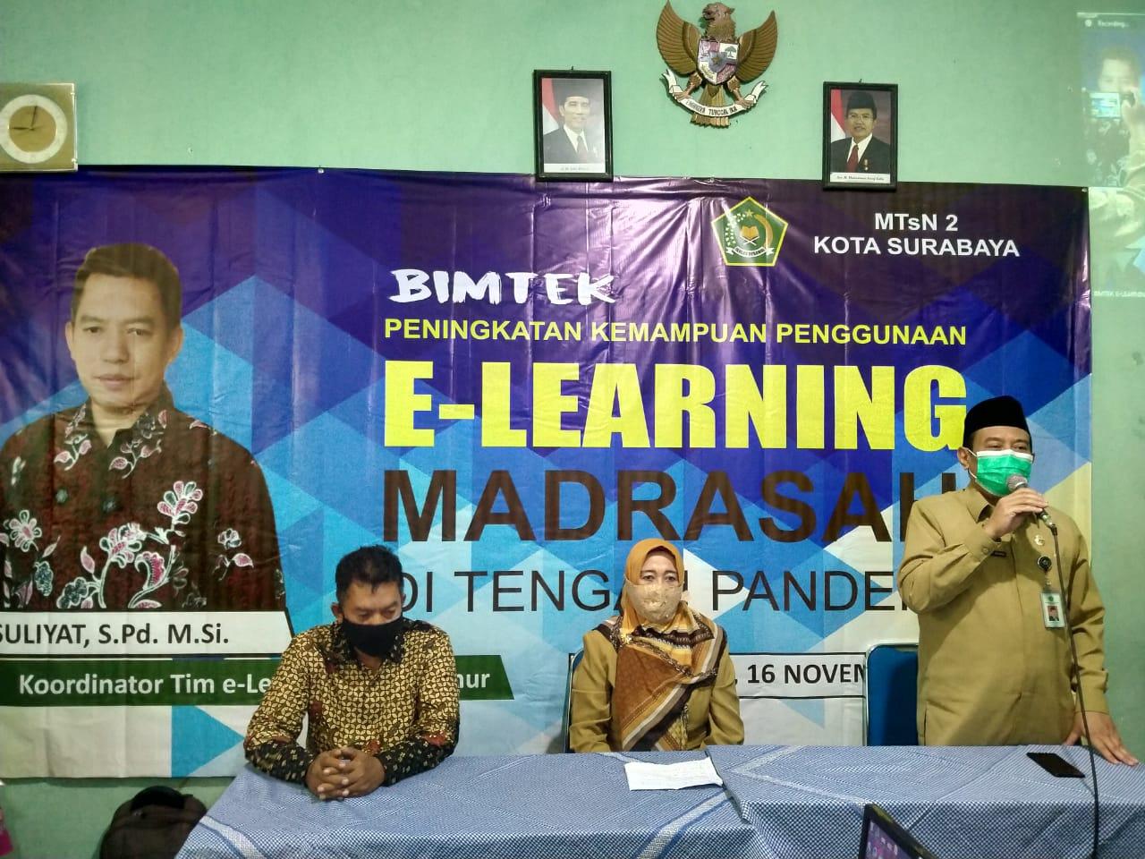 PERINGATI HARI GURU, MADRASAH GELAR BIMTEK E-LEARNING